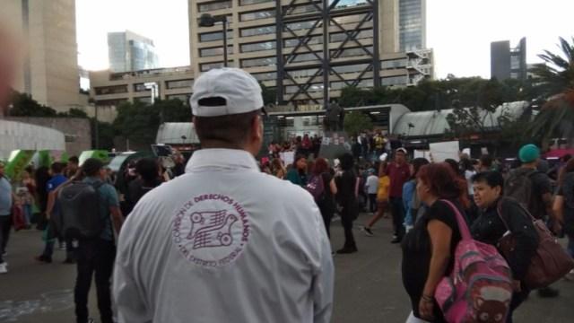 Foto: La Comisión de Derechos Humanos de la CDMX monitoreó la marcha de mujeres contra la violencia de género, 17 agosto 2019