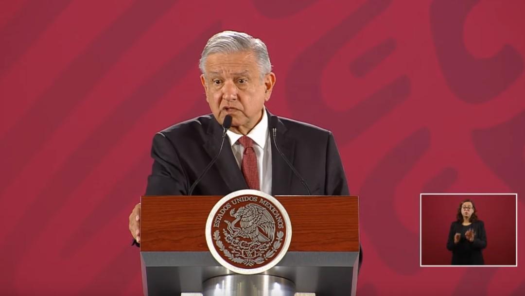 Foto: López Obrador en conferencia de prensa, 14 de agosto de 2019, Ciudad de México
