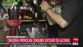 FOTO: Chelerías Provocan Consumo Excesivo Alcohol CDMX