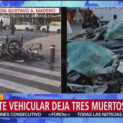Choque en avenida Eduardo Molina deja 3 muertos