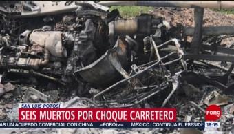 Foto: Choque San Luis Potosí Deja 6 Muertos Un Lesionado