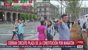 FOTO: Cierran circuito de la Plaza de la Constitución por Maratón, 24 Agosto 2019