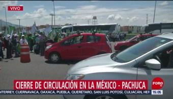 Cierran circulación autopista México-Pachuca