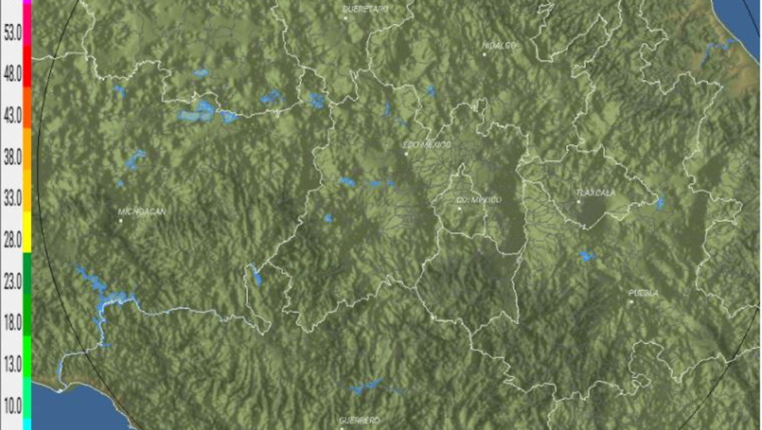 Foto: El radar no detecta ecos de reflectividad en la región, 25 agosto 2019