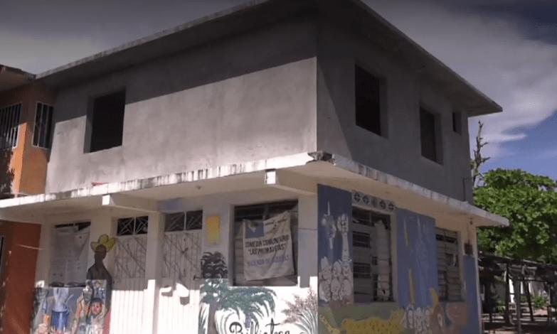 FOTO Comedor comunitario cerrado en Hacienda de Cabañas, Guerrero (Noticieros Televisa)