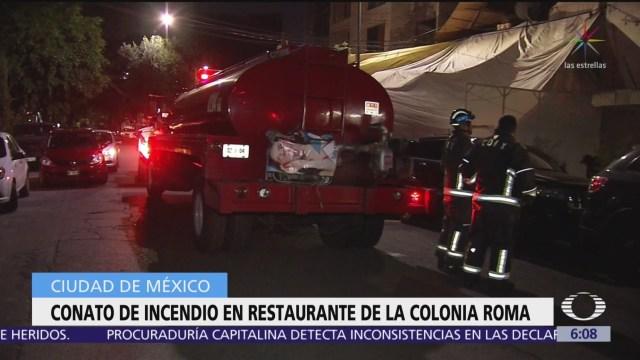 Conato de incendio en restaurante de la colonia Roma, CDMX