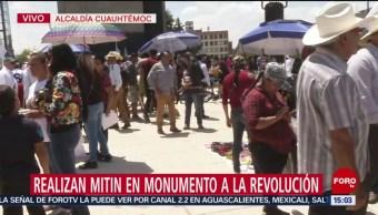 Foto: Concluye Mitin Campesinos Monumento Revolución