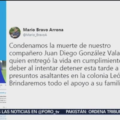 Condenan muerte de un agente en León, Guanajuato