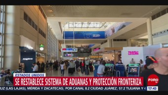 FOTO: Confirman que se restablece sistema informático control fronterizo aeropuertos Eu,