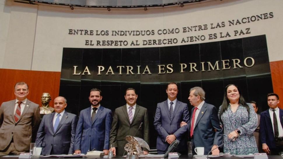 Foto: El senador Miguel Ángel Mancera Espinosa, coordinador de la fracción perredista, indicó que la trayectoria de Gabriel Yorio es loable, 21 de agosto de 2019 (Twitter @GabrielYorio)