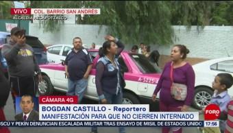 FOTO: Continúa Protesta Contra Cierre Internado Azcapotzalco CDMX