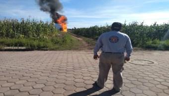 Foto Continúa trabajos en fuga de gas LP de Acajete 21 agosto 2019