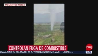 FOTO: Controlan Fuga Combustible Hidalgo