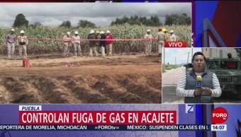 Foto: Controlan Fuga Gas Acajete Puebla 22 Agosto 2019