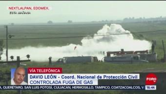 Foto: Controlan fuga gas Nextlalpan Edomex