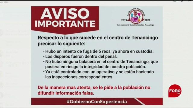 FOTO: Controlan fuga de reos en Tenancingo, Estado de México, 10 Agosto 2019