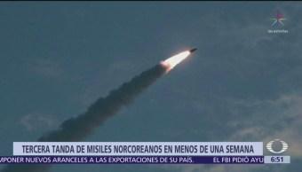 Corea del Norte lanza más proyectiles