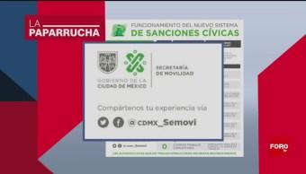 Foto: Cuenta Semovi Twitter Noticias Falsas 30 Agosto 2019