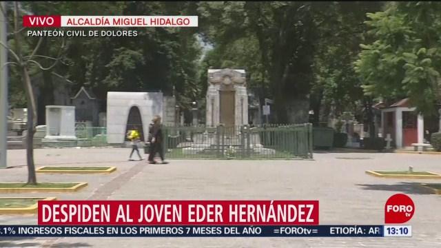 FOTO: Dan último adiós joven Eder Hernández,