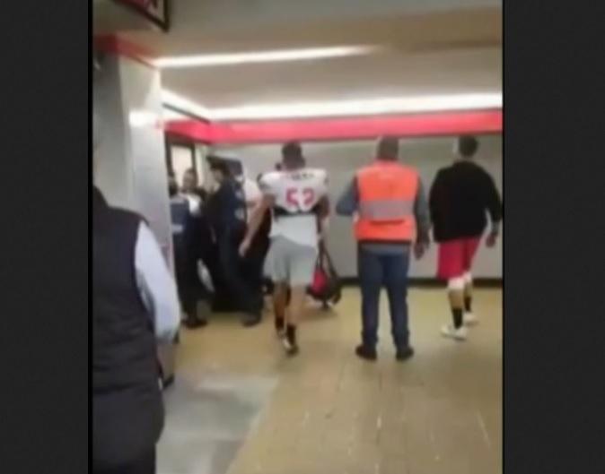 Estudiantes detienen a presunto ladrón en el Metro