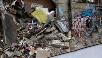 Foto: Derrumbe de vivienda en Chile, 14 de agosto de 2019