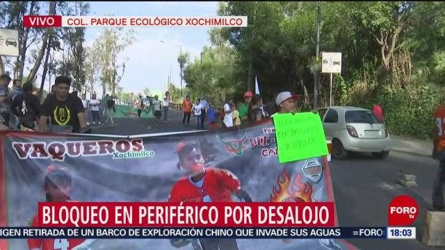 FOTO: Desalojan campamento equipo Vaqueritos Xochimilco