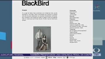 Despierta con Cultura: Obra de teatro 'BlackBird'