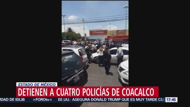 Detienen a policías municipales, en Coacalco; son acusados de extorsiones a transportistas