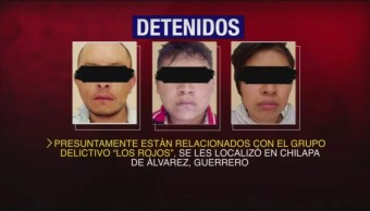"""Foto: Detienen a cinco personas relacionadas con el grupo delictivo """"Los Rojos"""", 16 agosto 2019"""