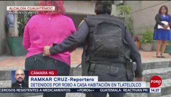 Foto: Detiene Dos Robo Casa Habitación Tlatelolco