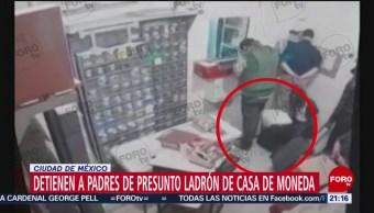 Foto: Detienen Padres Implicado Robo Casa Moneda 20 Agosto 2019