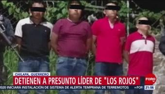 Foto: Detienen Lider 'Los Rojos' Guerrero El Chaparro 21 Agosto 2019