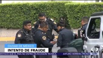 Detienen en Santa Fe, CDMX, a tres por intento de fraude