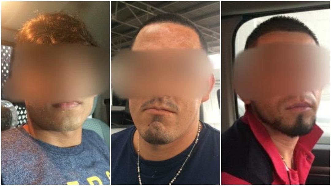 Foto: Tres hombres fueron detenidos tras ser señalados del presunto secuestro de una persona en Hermosillo, 24 de agosto de 2019 (Policía Estatal de Sonora)
