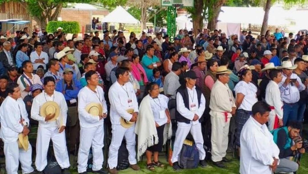 Foto Indígenas en Chiapas durante un evento del Gobierno Federal, 22 de agosto de 2019 (Gobierno de México)