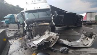 Foto: Los conductores de ambos vehículos resultaron con lesiones leves, 8 de agosto de 2019 (Twitter @newshidalgo)