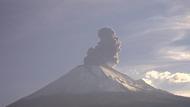 Foto: El Cenapred registró 125 exhalaciones del volcán Popocatépetl, 11 de agosto de 2019 (Cenapred)