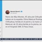 FOTO: Ebrard reporta 6 mexicanos heridos por tiroteo en El Paso, Texas, 3 AGOSTO 2019