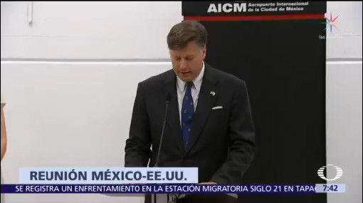 Ebrard y Durazo se reúnen con el embajador de EU en México
