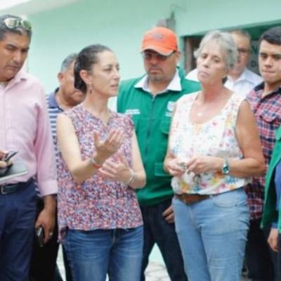 Damnificados del sismo en CDMX reclaman a Sheinbaum por retrasos en obras