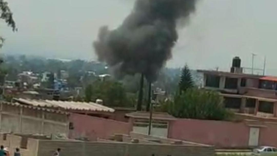 Foto: Protección Civil del Estado de México confirmó que la situación está bajo control, el 25 de agosto de 2019 (Twitter @SIADEac)