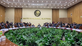 Foto: Los consejeros electorales se pronunciaron en contra de la llamada Ley Bonilla, que amplía en 5 años la gubernatura en Baja California, 28 de agosto de 2019 (Twitter @INEMexico)