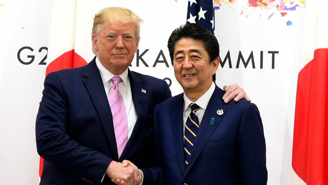 Foto: Trump dijo que Japón había aceptado comprar el exceso de maíz estadounidense que cargan los productores de Estados Unidos, 25 de agosto de 2019 (AP)