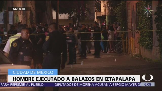 Ejecutan a hombre en calles de Iztapalapa, CDMX