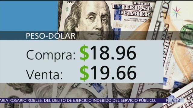El dólar se vende en $19.66