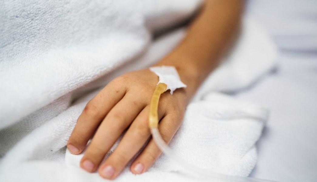 Foto: Niño en hospital por contagio con herpes. 1 agosto 2019