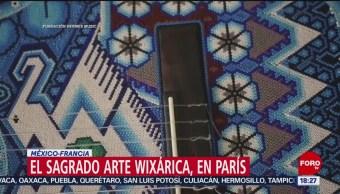 FOTO: El Sagrado Arte Wixárica en París, 25 Agosto 2019