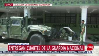Entregan a Guardia Nacional cuartel en Venustiano Carranza, CDMX