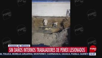 FOTO: Estables, trabajadores lesionados por flamazo en Iztacalco: Pemex, 24 Agosto 2019