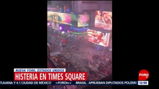 Estalla histeria por ruidos, confundidos con tiroteo, en Times Square